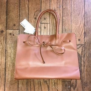 🍁🔥NEW Faux Leather Large Tote Bag Tie Front